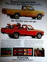 "1974 Toyota Long Bed 2000 Original Print Ad 8.5 x 11"""