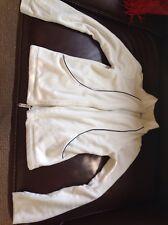 Ladies Size 8-10 Cream Fleece/jacket-ladies cream fleece/jacket