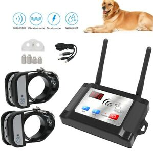 Wireless Dog Pet Electric Fence Rechargeable Waterproof Transmitter and Collar