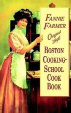 Original 1896 Boston Cooking-School Cookbook by Fannie Merritt Farmer.