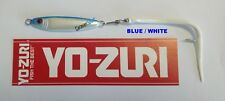 ARTIFICIALE JIG SPINNING METALLIC SARDINE 18 GR CON CODA IN SILICONE BLUE WHITE