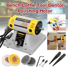 220V Bench Lathe Tool Dental Jewelry Polisher Finisher Polishing Motor Machine