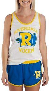 Riverdale Juniors' Riverdale Vixens Tank and Short Set Pajama Loungewear