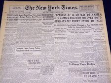 1945 AUG 19 NEW YORK TIMES - JAPANESE AT IE ON WAY TO MANILA - NT 628