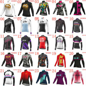Womens cycling Jersey 2021 autumn long sleeve bike shirt breathable bicycle Tops