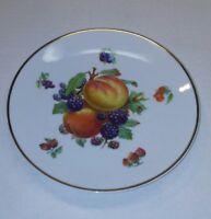 Vintage Action Industries Bavarian China Gold Trimmed Plate Decorative Fruit