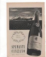 Pubblicità vintage CINZANO SPUMANTE TORINO old advert reklame werbung publicitè