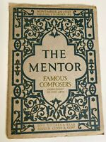 The Mentor Magazine November 24 1913 Brahms Liszt Chopin Famous Composers