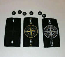 3 Stone Island Badges Standard, Black Ghost and Glow with 6 buttons