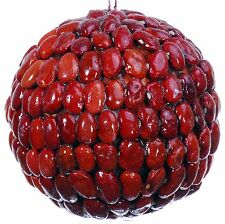 Seed Bean Mosaic Decorative Ball Ornament Natural Red Christmas Tree New 454f
