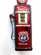 Route 66 Vintage Gas Pump Christmas Glass Ornament