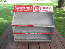 Vintage Advertising, Chesterfield and LM Cigarette Point of Sale Display Stand