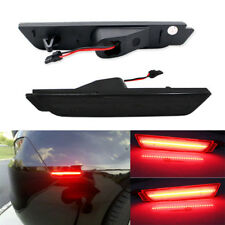 Smoked Red LED Rear Bumper Side Marker Lights for 2010-2014 Chevy Camaro
