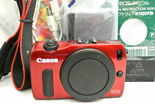 Canon EOS M Mirrorless digital camera *red *immaculate