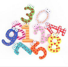 Fashion 10pcs Number Wooden Alphabet Fridge Magnet Child Educational learn Toys