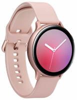 Samsung Galaxy Watch Active 2 SM-R820 44mm Sport Band - Pink Gold - New