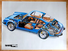 """orginal Porsche Plakat Poster """"erster Porsche 911 SC"""" 1978 Porsche 911 SC"""