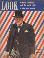 Look February 25 1941 Winston Churchill Edgar Ansel Mowrer WW2 010219DBE