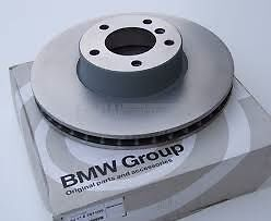 Rear Brake Ventilated Disc Rotor Set of 2 Genuine BMW X3 F25 X4 F26 34206868936