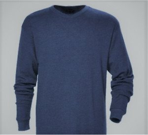 Field N Forest Taconite heavyweight Thermal knit crewneck Navy Blue Men's Stream