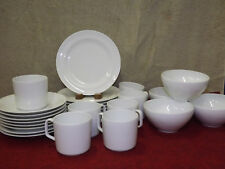 Georges Boyer Limoges 27 pc All White Culinary Plates Bowls Cups Saucers