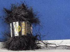 NEW Eyelash FUN FUR Yarn by LION BRAND #153 BLACK Knit or Crochet CRAFTS
