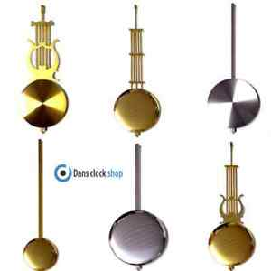 New Imitation Traditional Clock Pendulum Rod & Bob - Various Size Colour Option