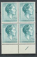 Luxemburg 691 postfris blok van vier