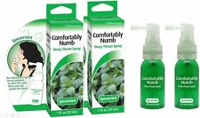 COMFORTABLY NUMB DEEP ORAL THROAT NUMBING SPRAY - SPEARMINT 1 oz - 2 PACK