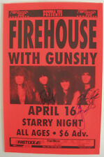 FIREHOUSE CONCERT TOUR POSTER AUTOGRAPHED BY C J SNARE BILL L. MICHAEL FOSTER