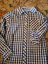 Us Polo Boys great shirt size 10/12 Nwt Nice checkered shirt Navy/white