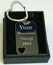 Personalised-Bridesmaid-Gift-Keyring-Engraved-gift-Wedding-Mothers Day Key Chain