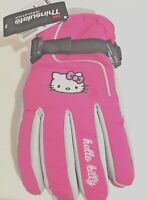 HELLO KITTY Girl's Ski Gloves with 3M Thinsulate One Size Fits Most 4-16 NEW!