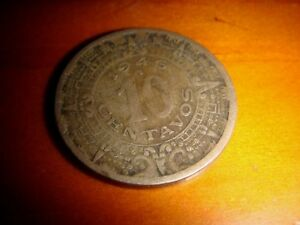 Mexico 1946, 10 Centavos Cupro-Nickel, decent heavily toned coin