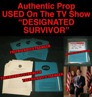 "PRESIDENT KIRKMAN ""DESIGNATED SURVIVOR"" SPEECH PROP Ep 3001 Kiefer Sutherland"