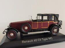1 43 Norev Renault 40 CV Type MC Gaston Doumergue 1924 Darkred/black
