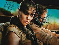 Charlize Theron & Tom Hardy Signed Mad Max Fury Road 11x14 Photo COA