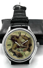 EROTIC VINTAGE EXPIRED PRINT NUDE ART COLLECTIBLE 40 mm WRIST WATCH SPRING