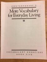 Contemporary's Vocabulary Exercises : More Vocabulary for Everyday 5 (1994, PB)