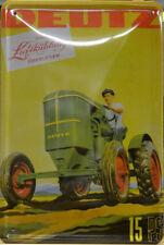 TRAKTOR - DEUTZ 15 PS - LANDWIRTSCHAFT - BLECHSCHILD 30 x 20 cm (BS 835)
