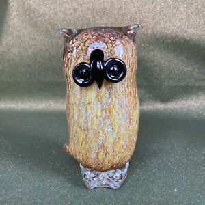 Hand Blown Glass Owl 🦉 Figurine Ornament Paperweight Christmas Xmas Gift