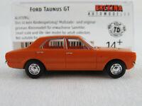 Brekina 19119 Ford Taunus GT Limousine (1972) in gelborange 1:87/H0 NEU/OVP
