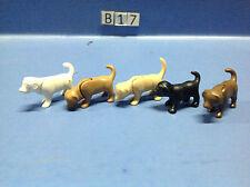 (B17) playmobil lot chiots de différentes couleurs