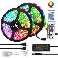 5/10M SMD RGB 5050 Waterproof 150 LED Strip Light /44Key IR Remote /12V 5A Power