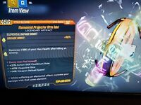 Elemental Projector Otto Idol mag size cooldown reload Borderlands 3xbox bl3