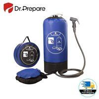 Dr. Prepare 15L Portable Solar Camping Shower Bag w/ Foot Pump & Shower nozzle