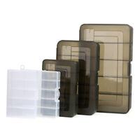 Plastic 5 Compartment Fishing Storage Box Case Fishing Lure Hook Bait Tackle Box