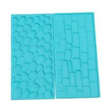 Cobble&Stone Wall Brick Impression Emboss Mat for Fondant Sugarcraft Decorate Q
