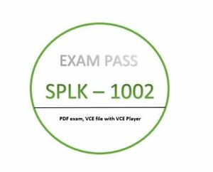 SPLK - 1002 PDF,VCE player and Exam - JANUARY updated