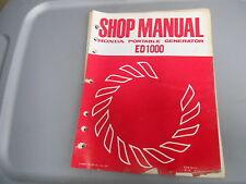 Honda Factory Shop Manual Portable Generator ED1000 6287210